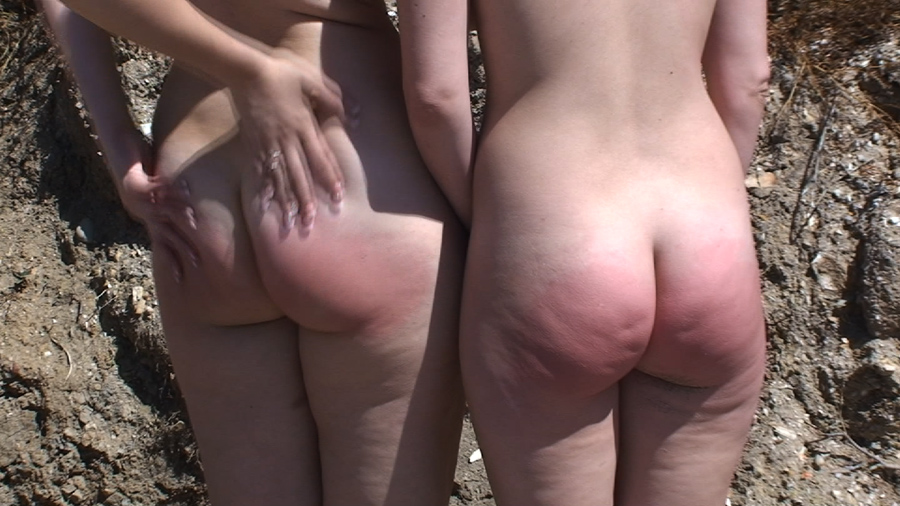 Party downlod girls getting a spanking on the beach bra flash charlize