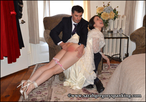 Bride gets spanked