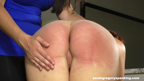 Red Spanked Ass